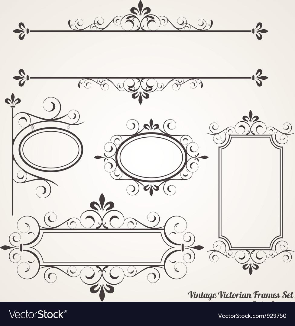 Vintage Victorian Frame set