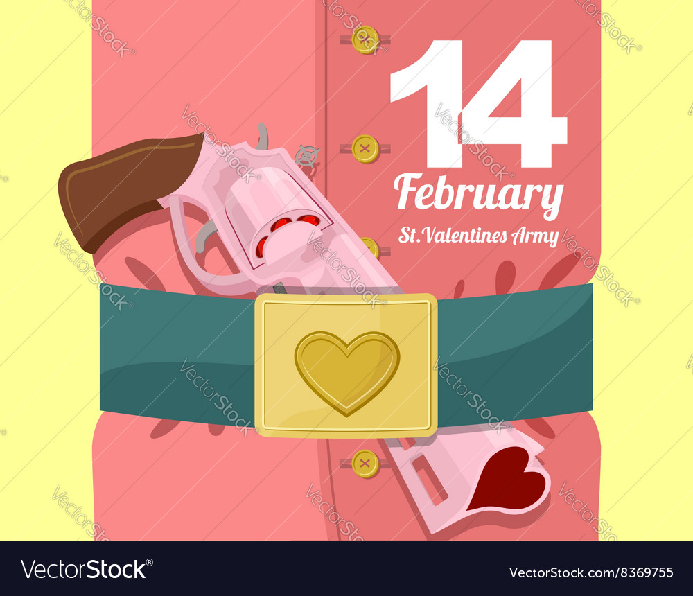 14 February Valentines day Military clothing and a
