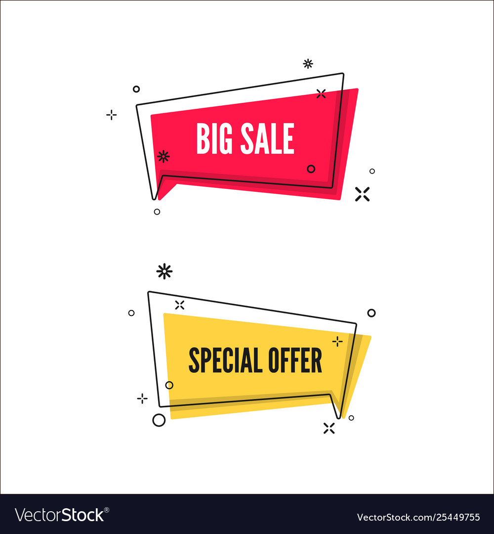 Abstract big sale and special offer banners