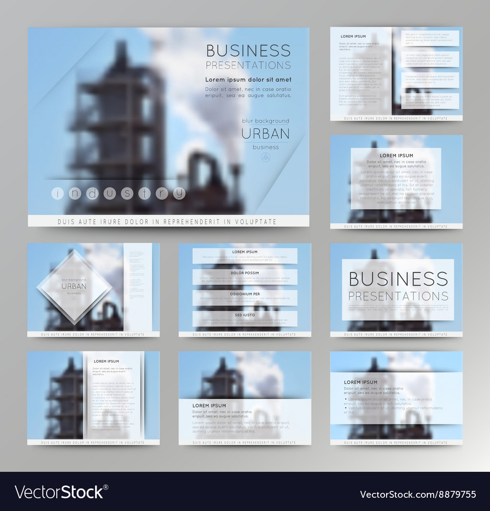 Abstract defocused backgrounds of factory vector image