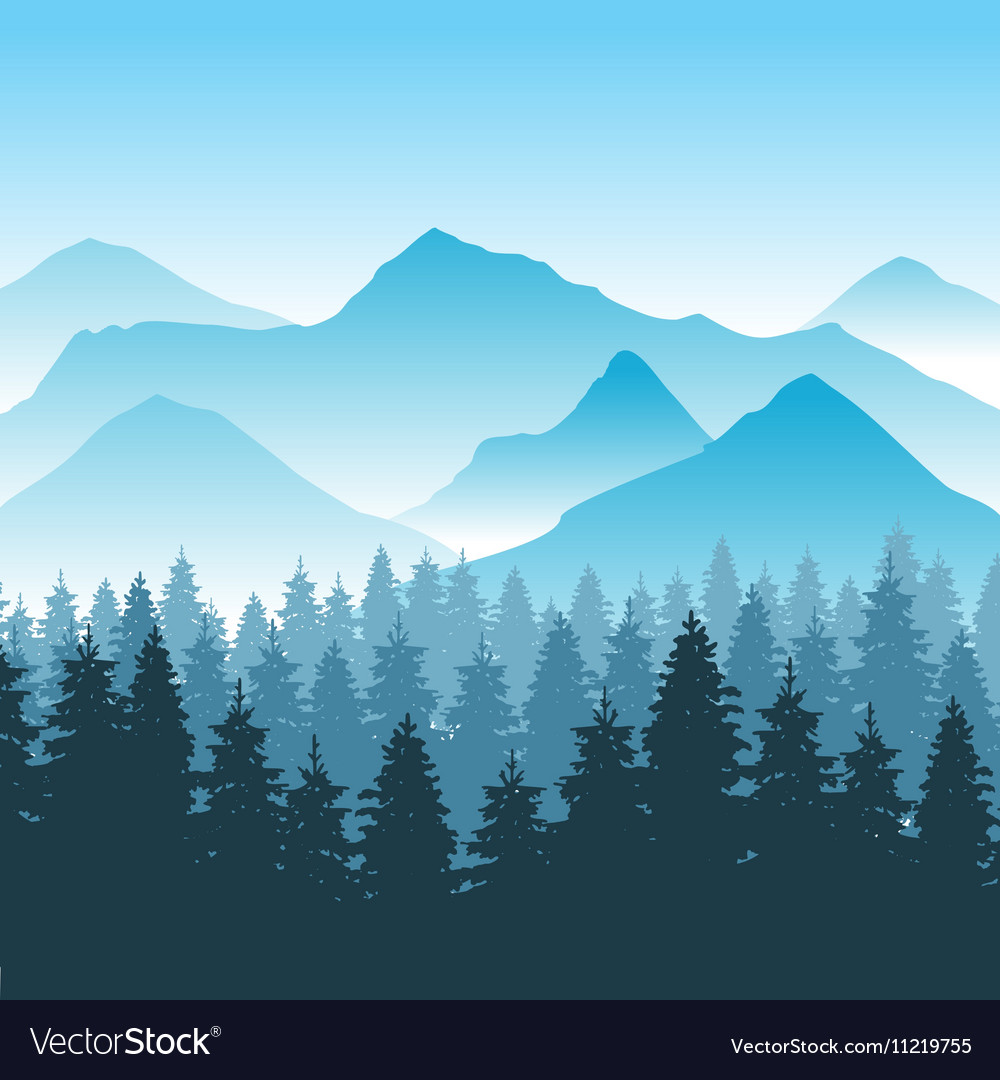 Abstract hiking adventure background with vector image