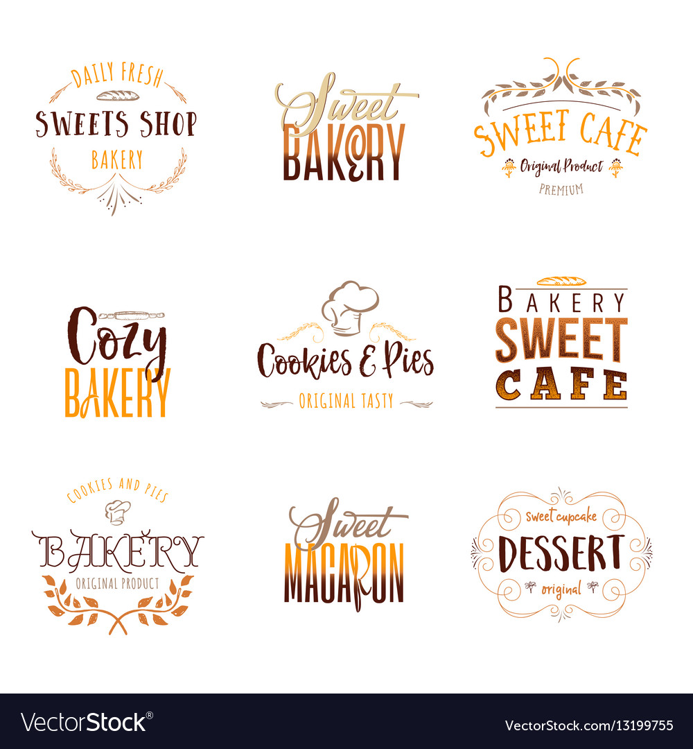 Badge set for small businesses - sweet bakery the