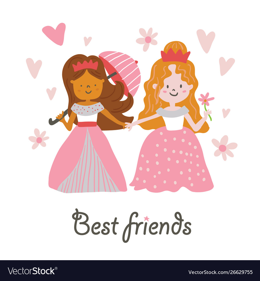 Beautiful princesses best friends
