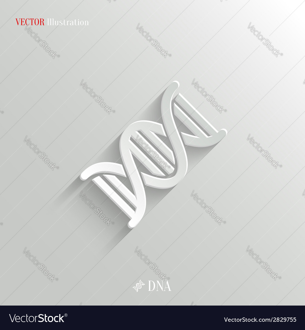 DNA icon - white app button