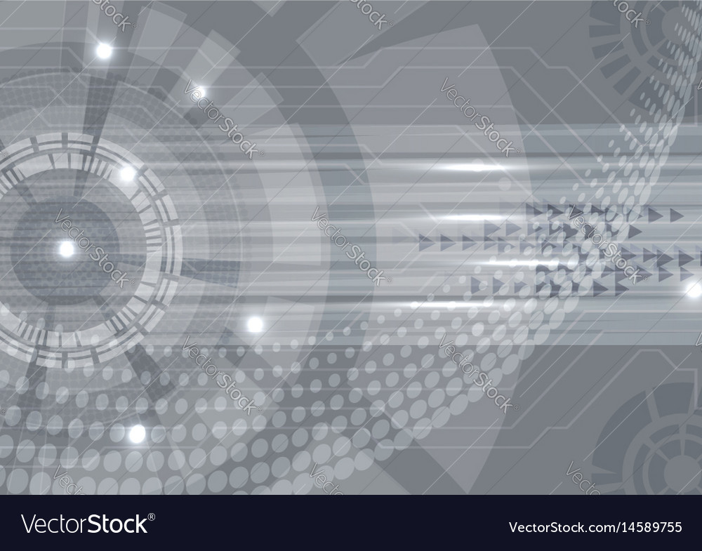 Gray digital technology concept abstract vector image