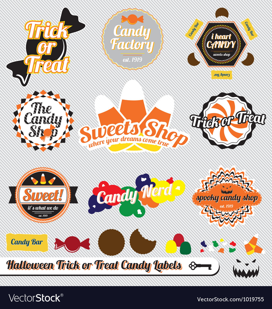 Halloween Trick or Treat Candy Labels