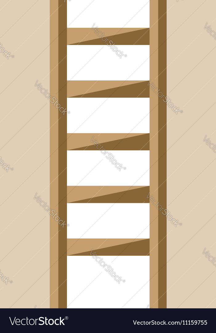 Ladder isolated flat style