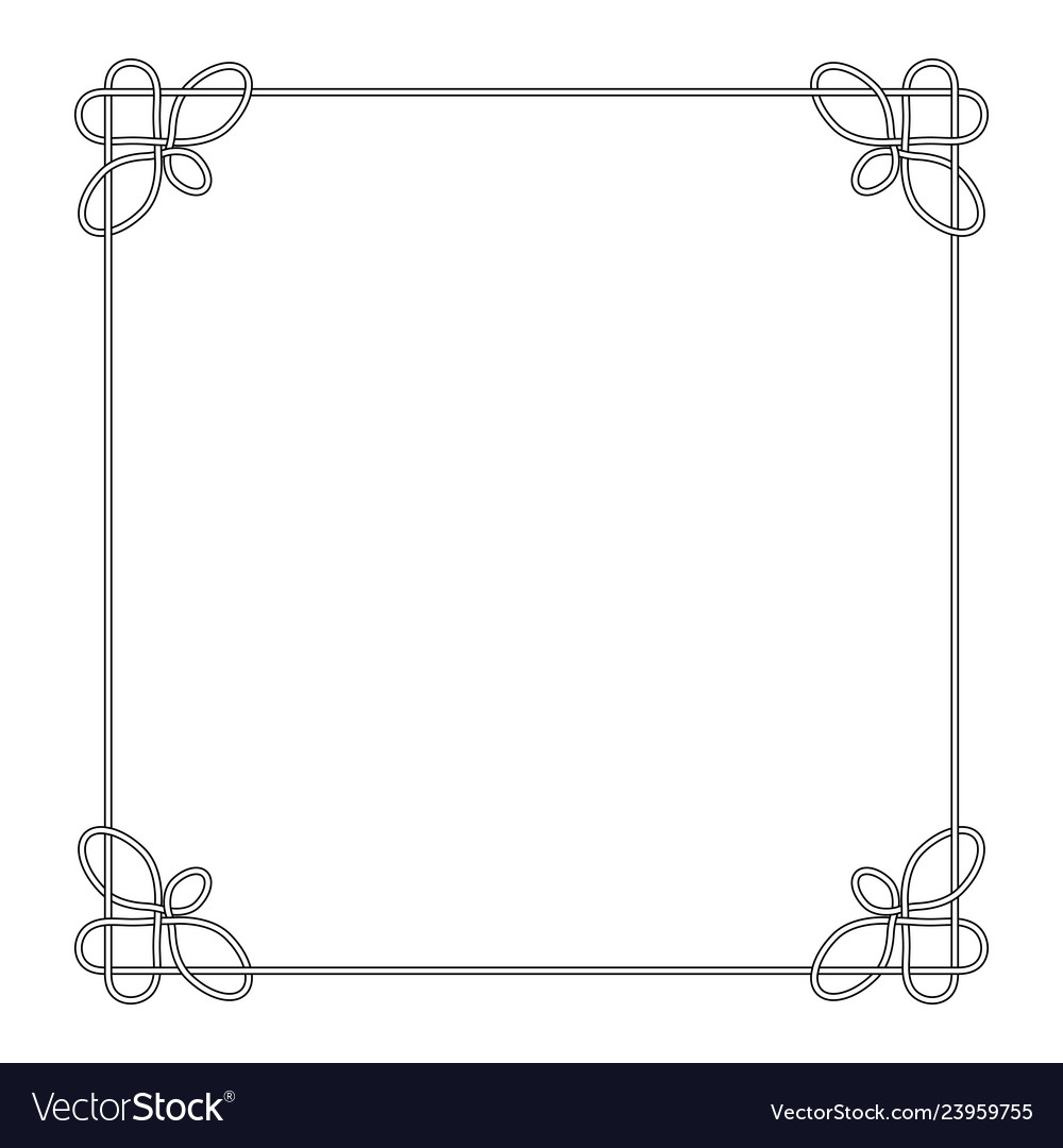Line deco border frame celtic knot
