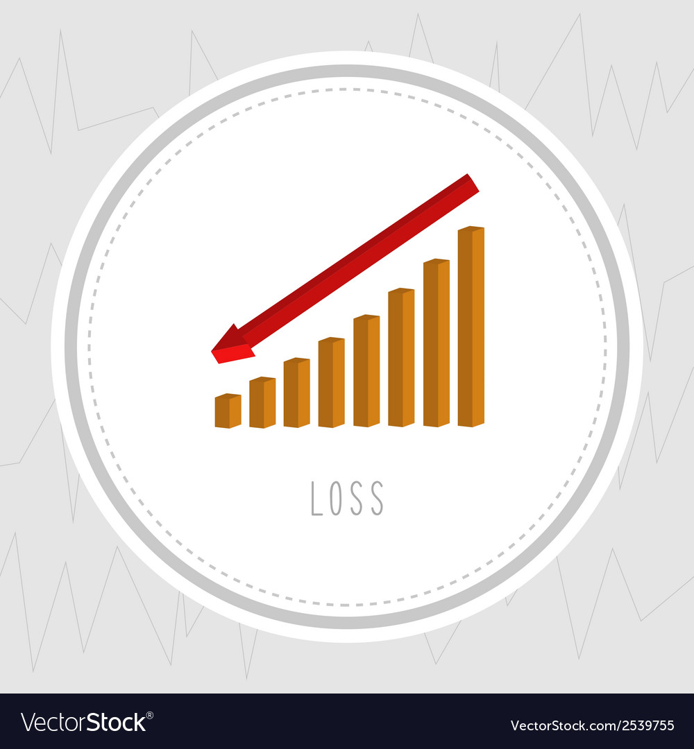 Loss chart1 vector image