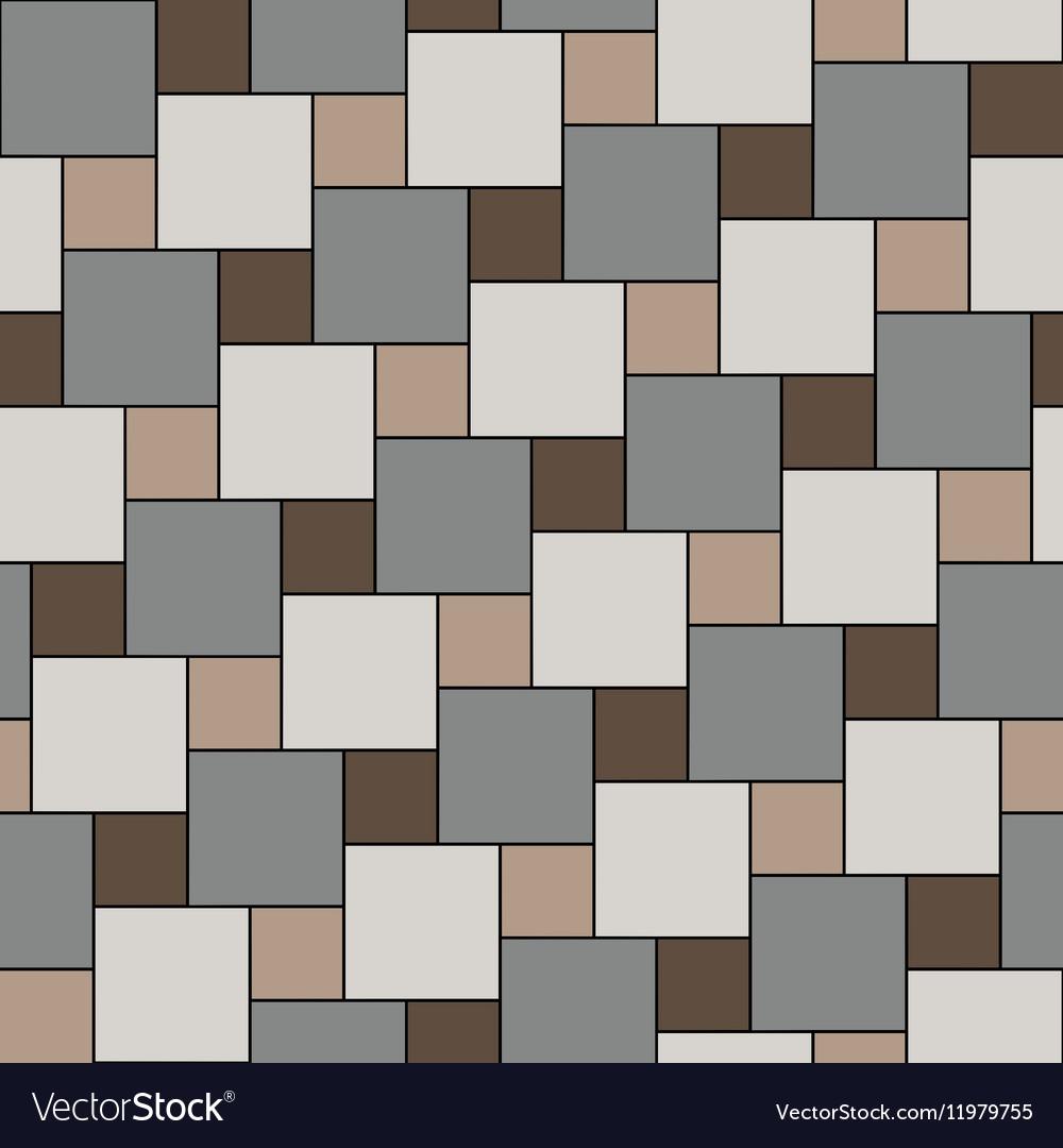 Pastel beige tiles seamless pattern