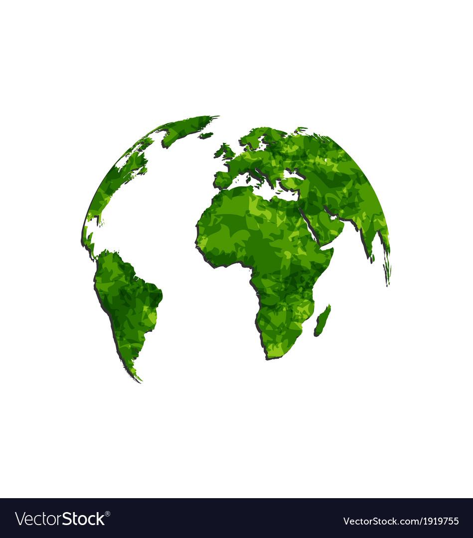Save The Green Earth Environmental Symbol Vector Image