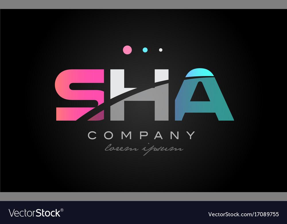 Sha s h a three letter logo icon design