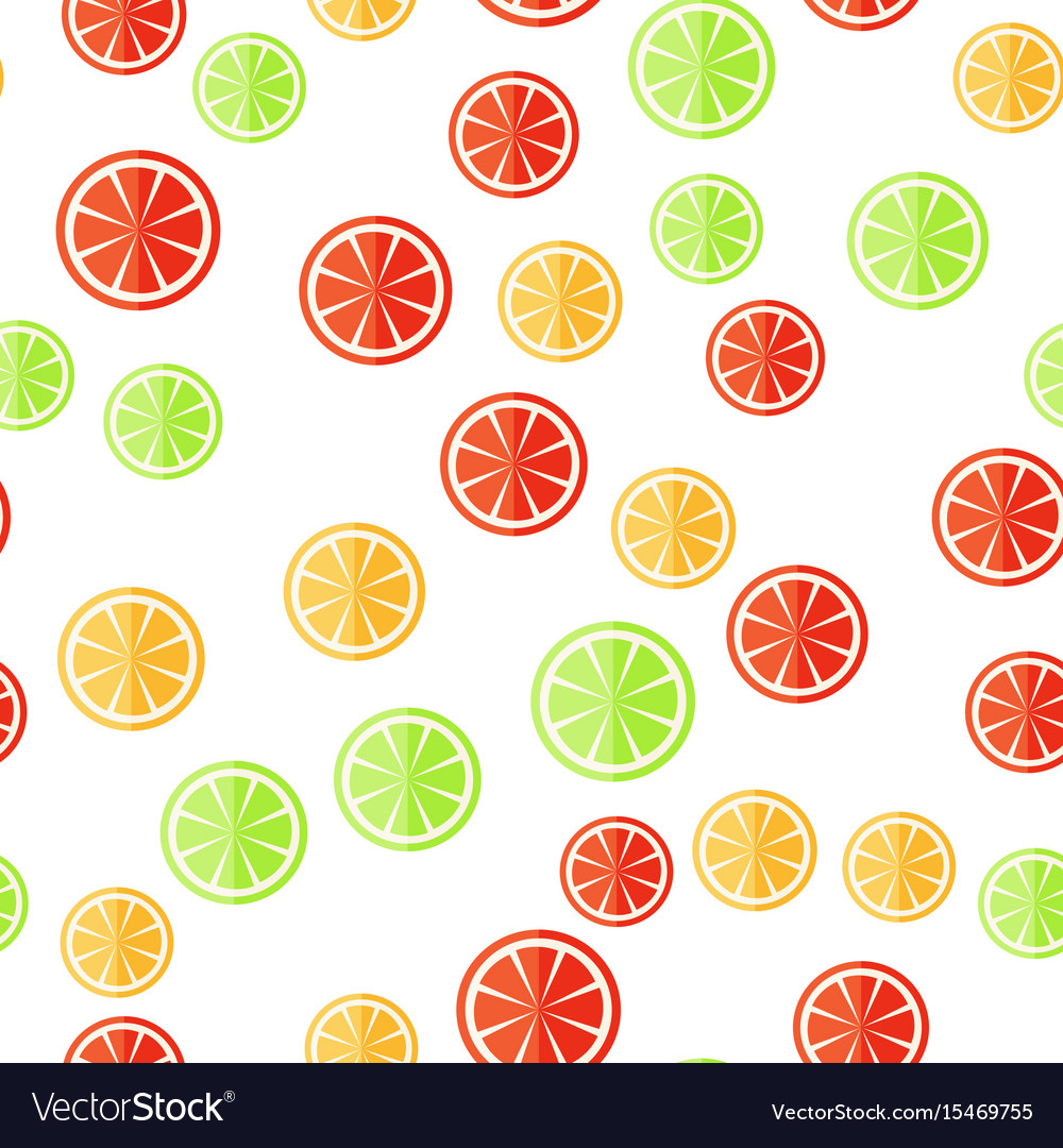 Sliced fruit on a white background