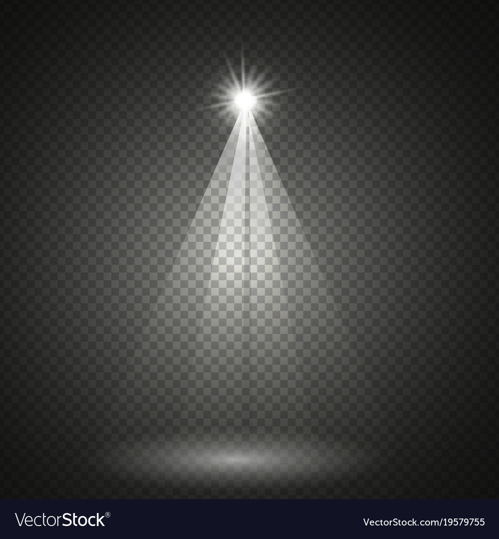 Transparent lighting effect vector image