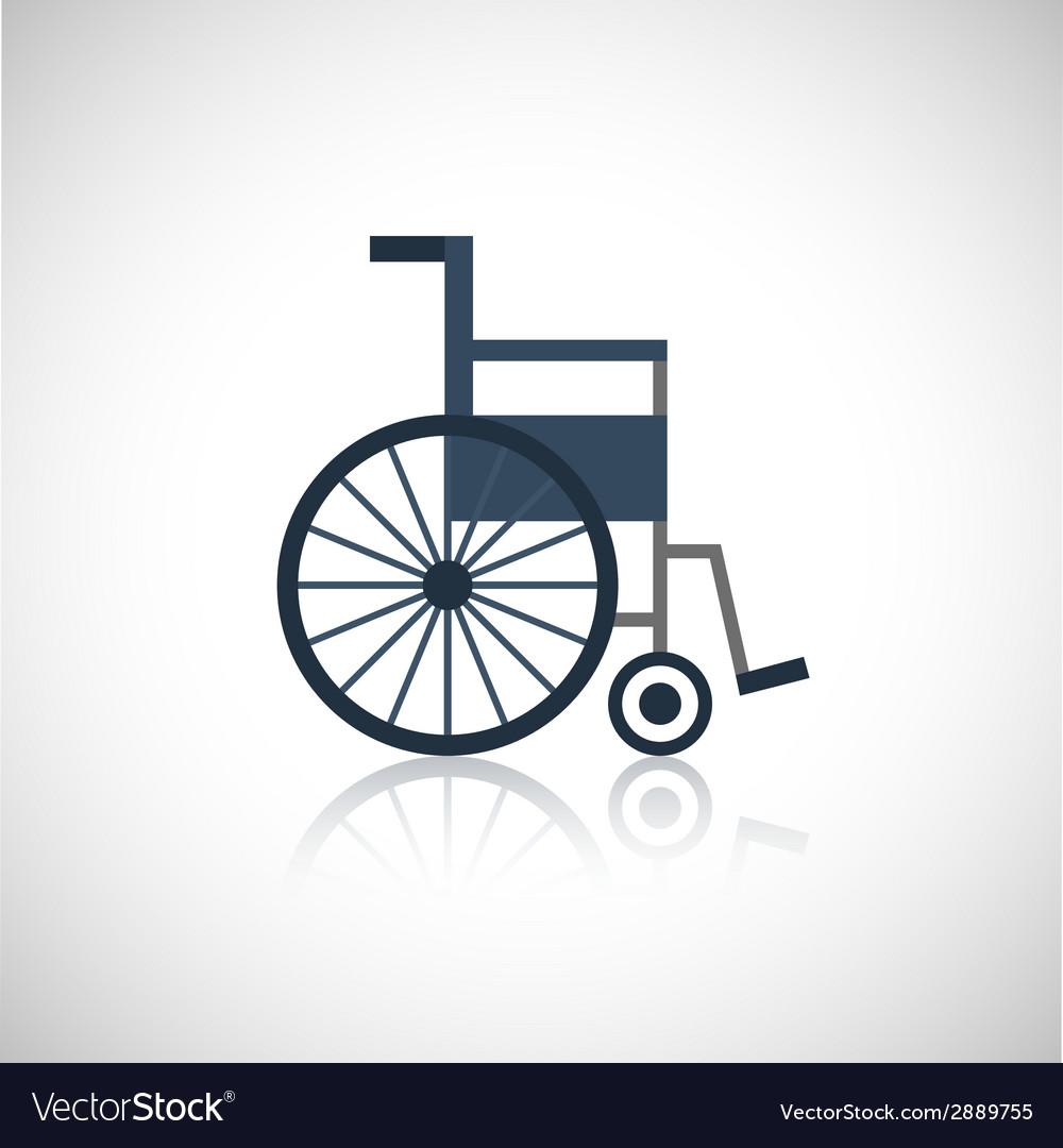 Wheel chair icon flat
