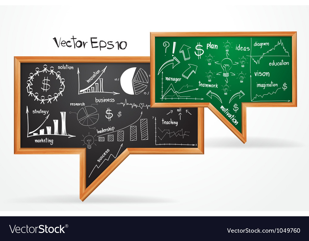 Business Plan concept drawing on chalkboard vector image