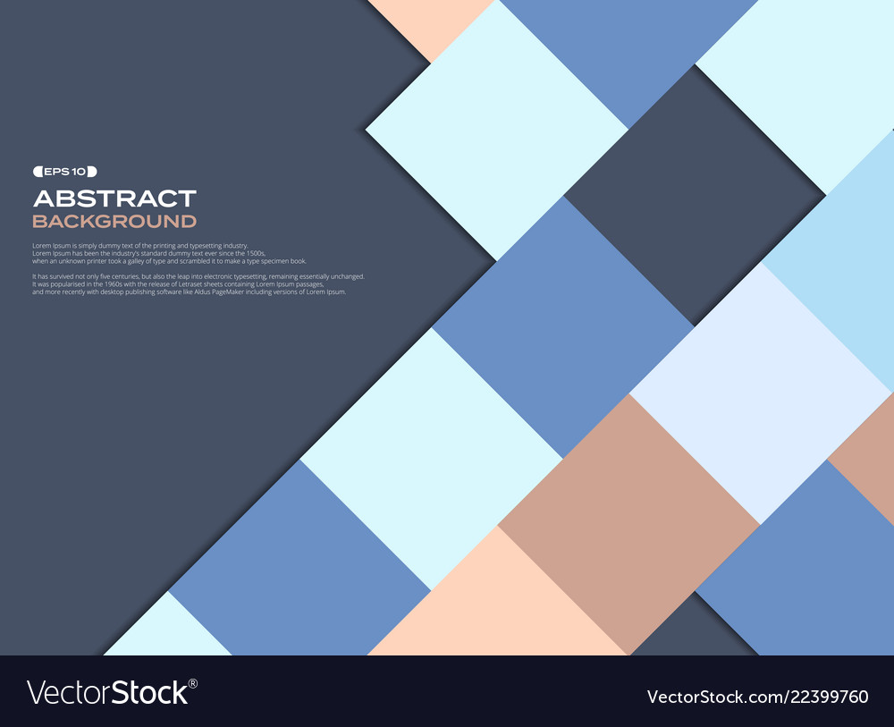 Colorful business square pattern cover background