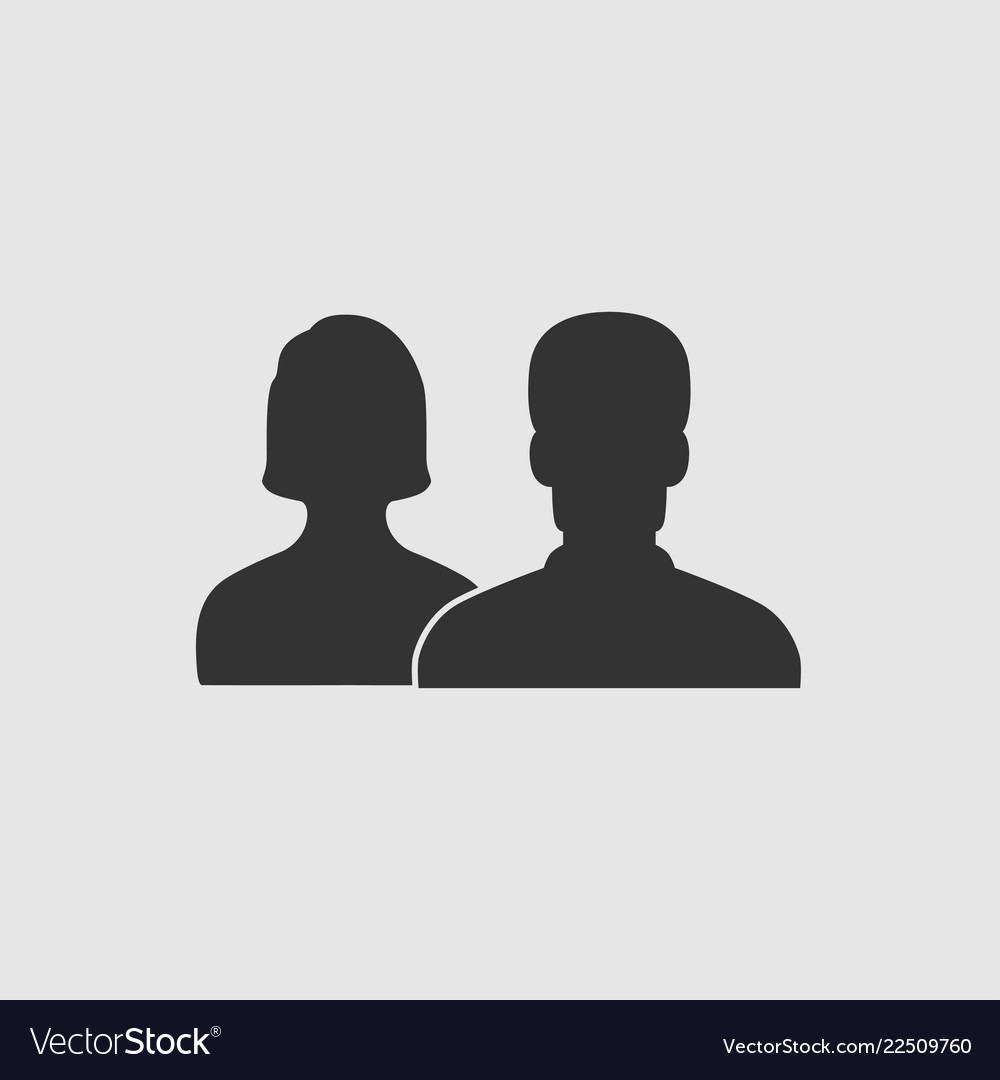 People - icon people men and woman icon