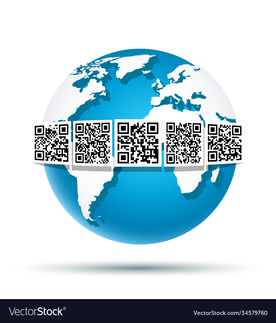 Qr code on earth