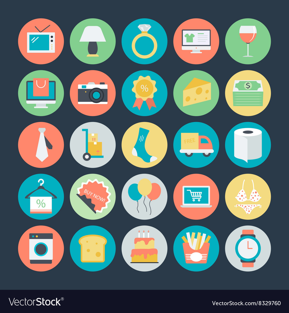 Shopping Colored Icons 2