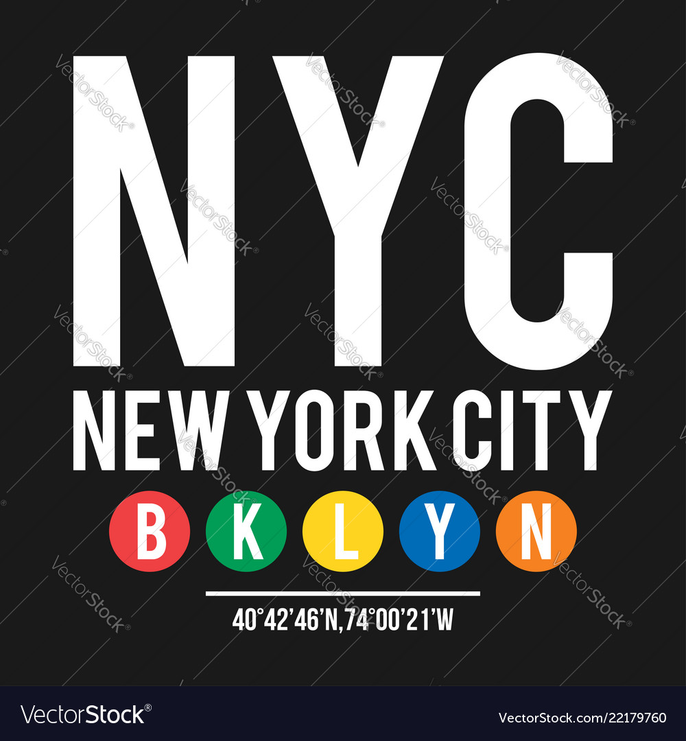 T-shirt design in concept new york city