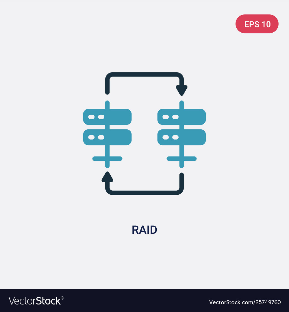 Two color raid icon from web hosting concept