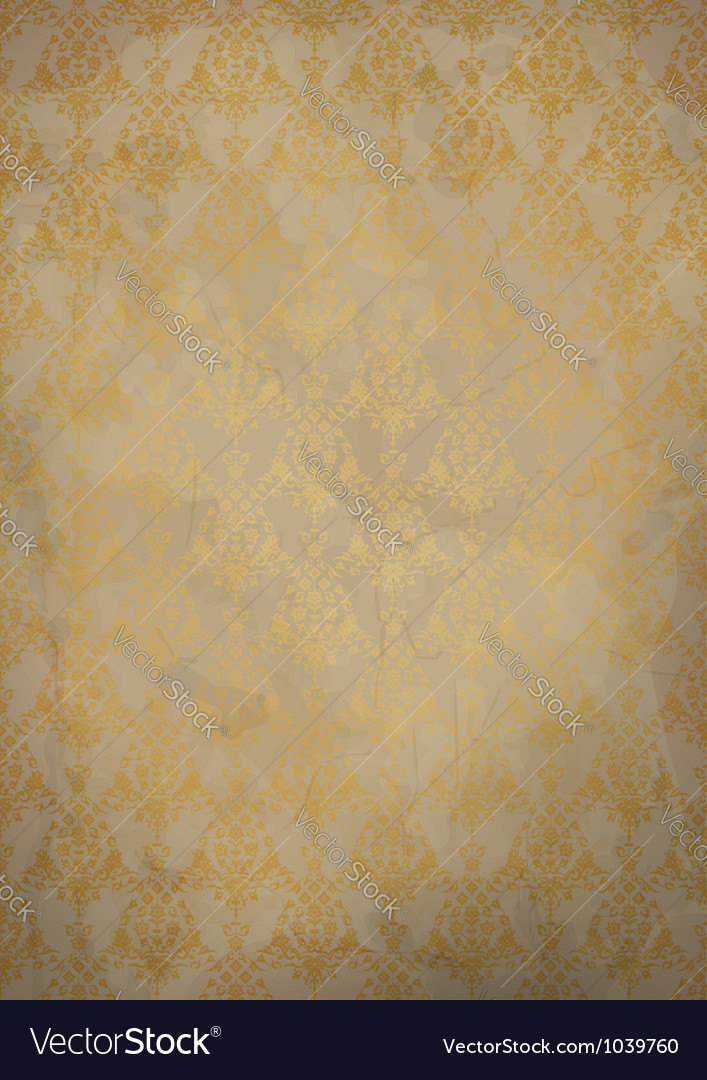 Vintage old paper background vector image