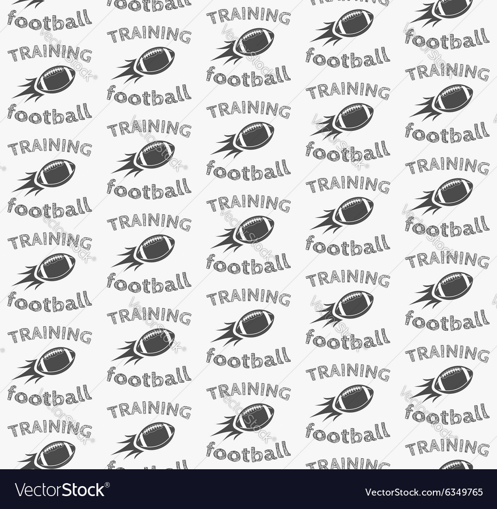 American football ball rocket seamless pattern in