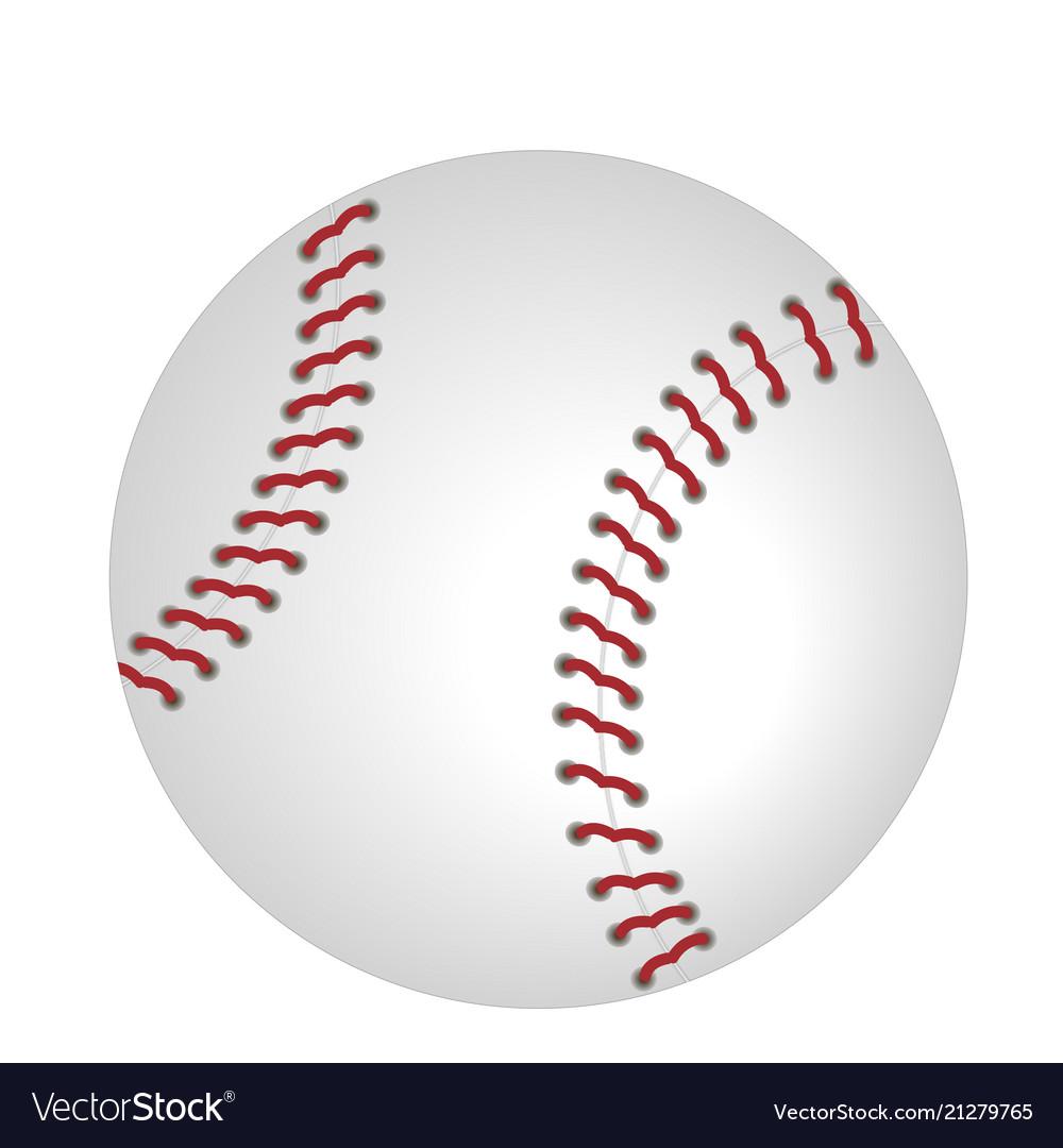 Baseball icon isolated on white background