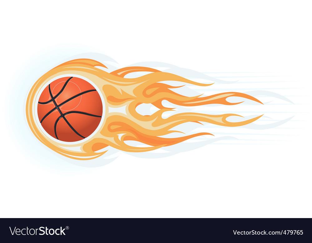 Basketball ball flame vector image