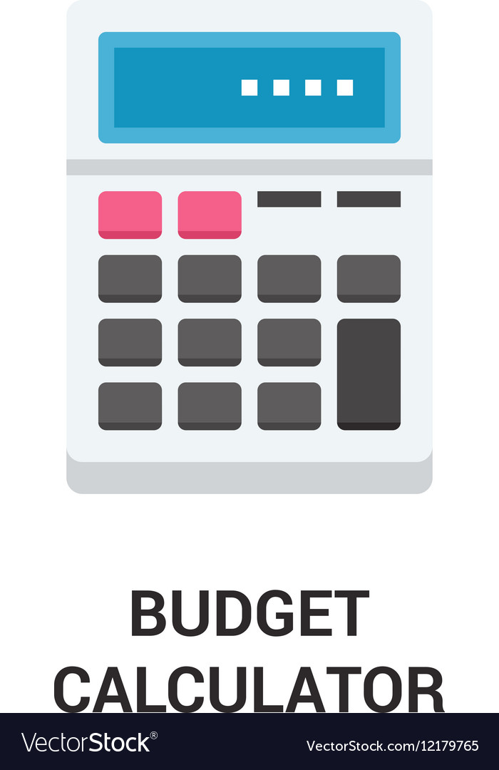 budget calculator icon concept royalty free vector image