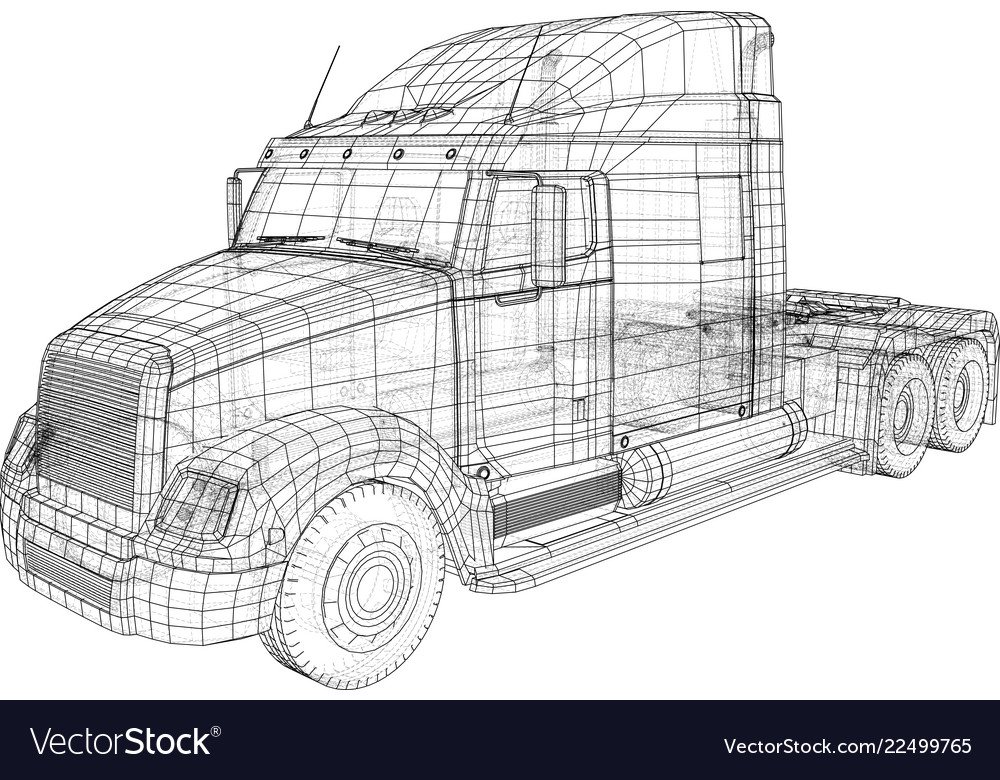 Cargo truck isolated on grey background trucks
