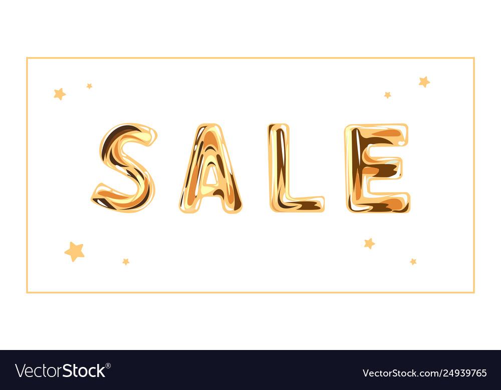 Gold sale text letters