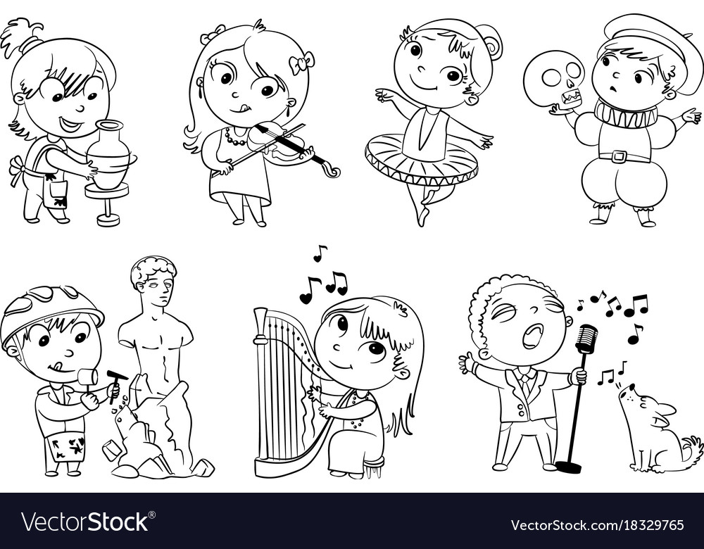 Увлечения для детей картинки с пояснением распечатать