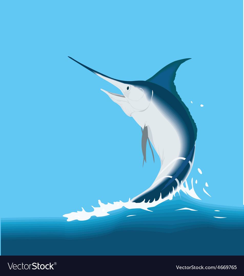 Jumping sailfish marlin fish