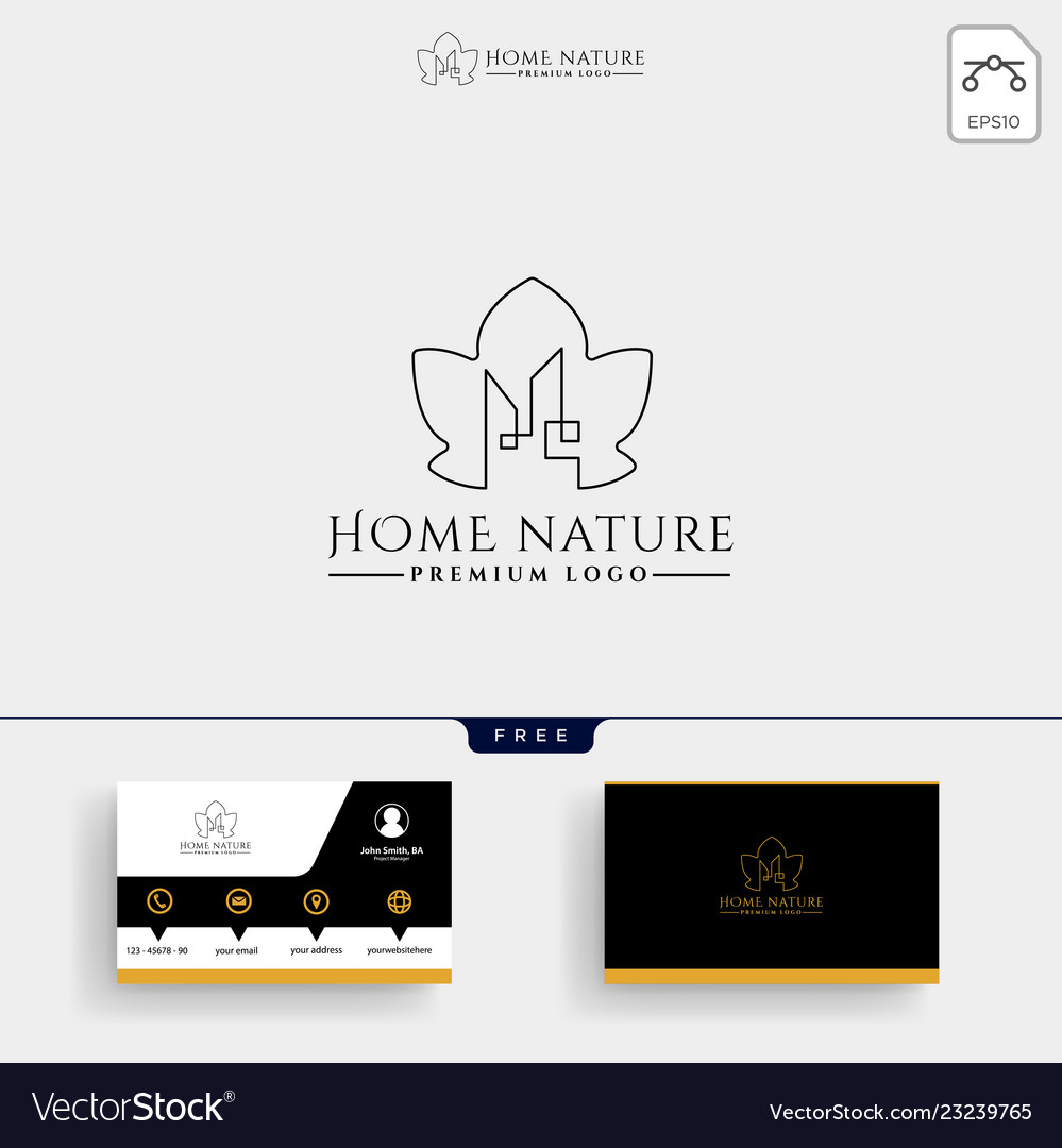 Real estate leaf nature logo template and