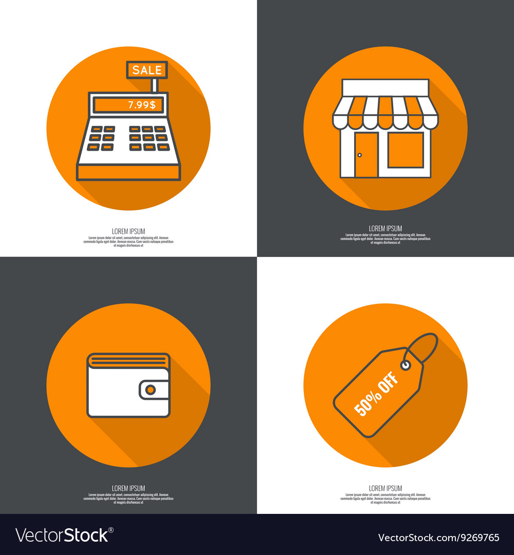 Set of icons pictograms