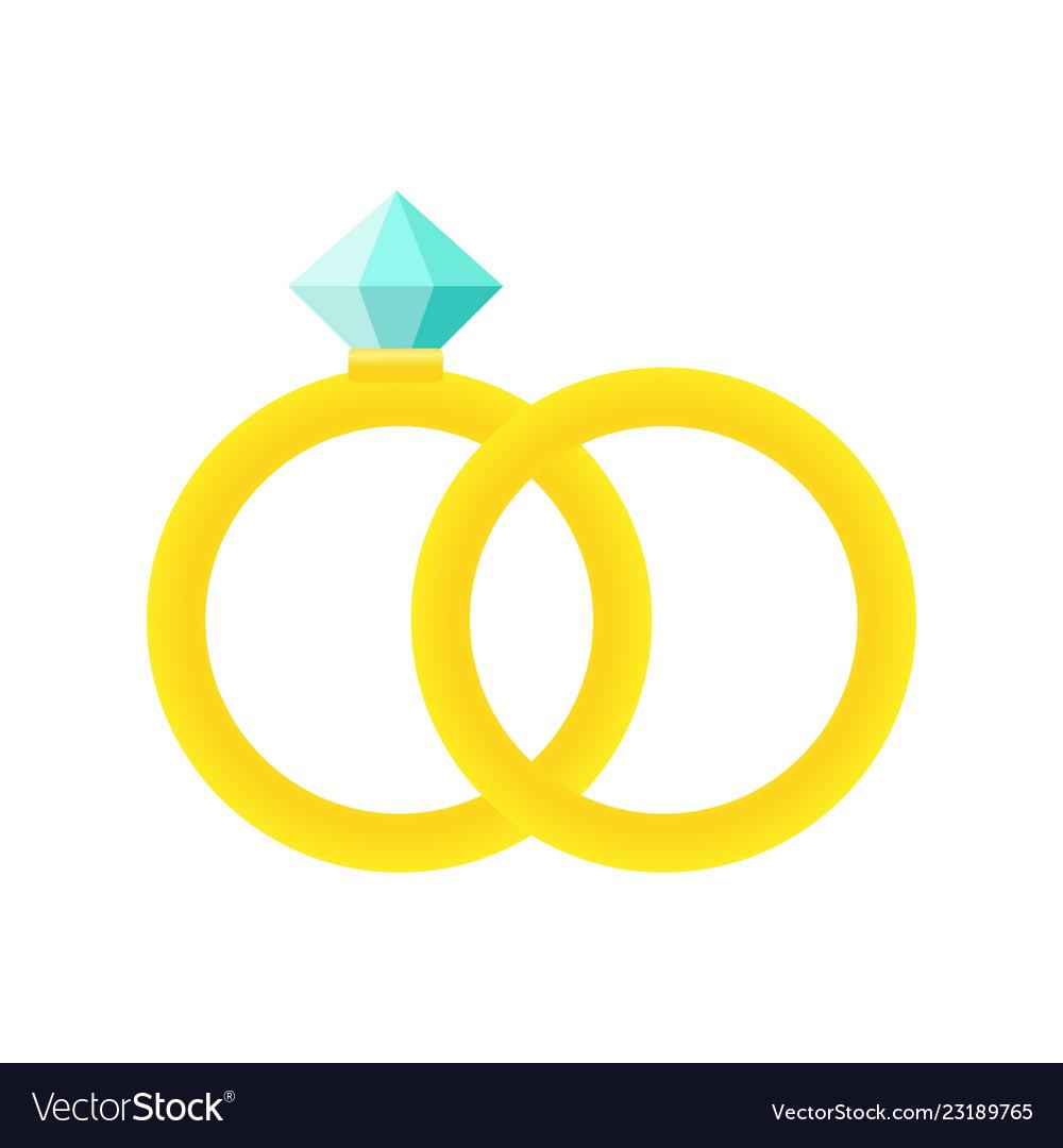 wedding rings icon cartoon of royalty free vector image