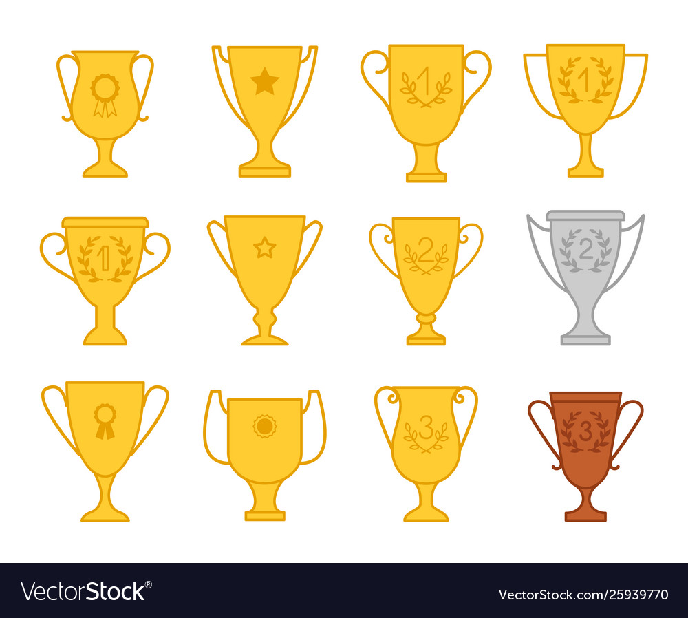 Award trophy cup icons
