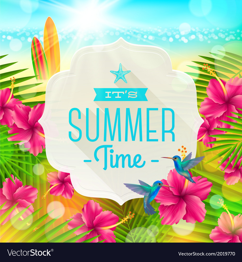 Banner with summer greeting