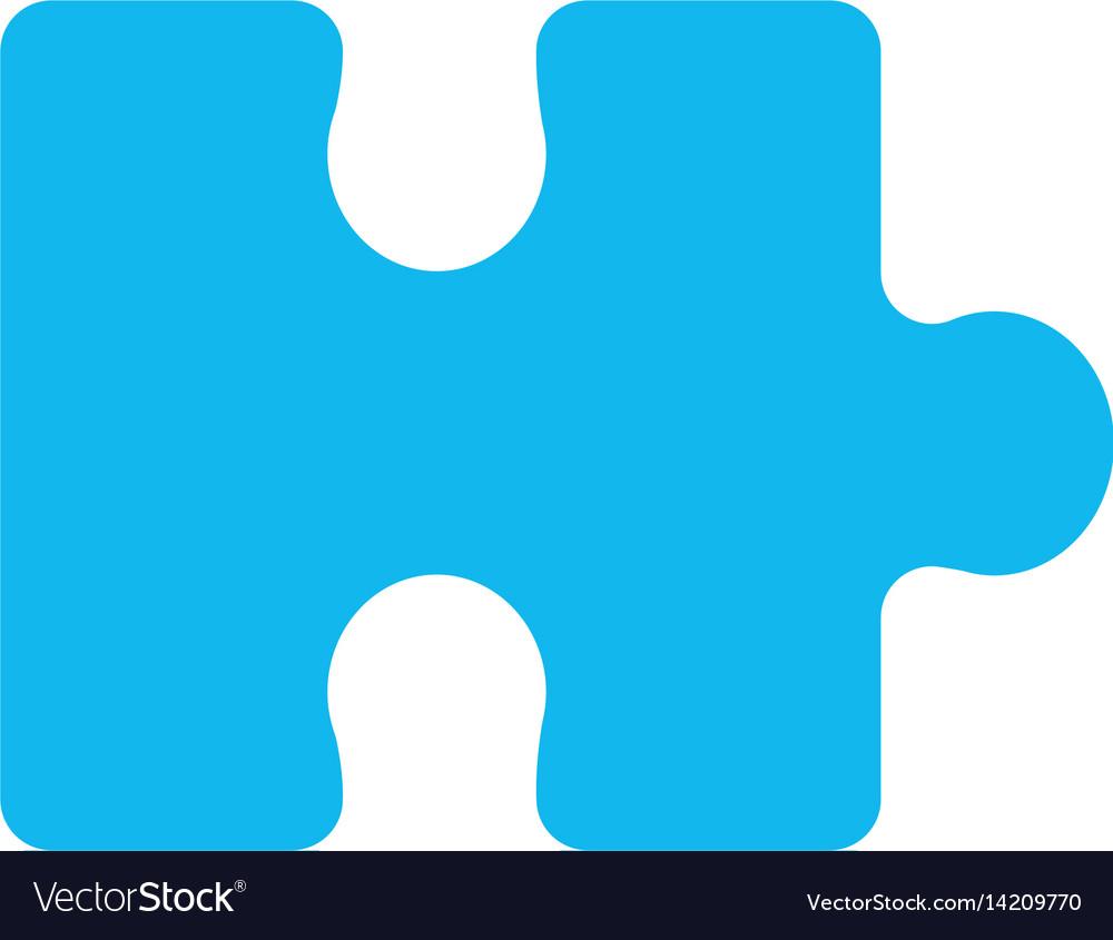 Blue piece puzzle mental game vector image