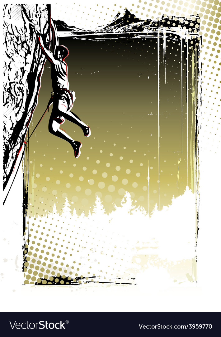 Climbing poster background vector image