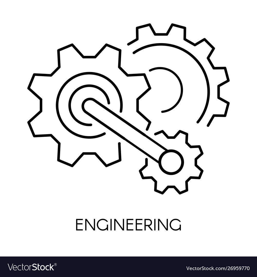 Cogwheel linear symbol engineering isolated