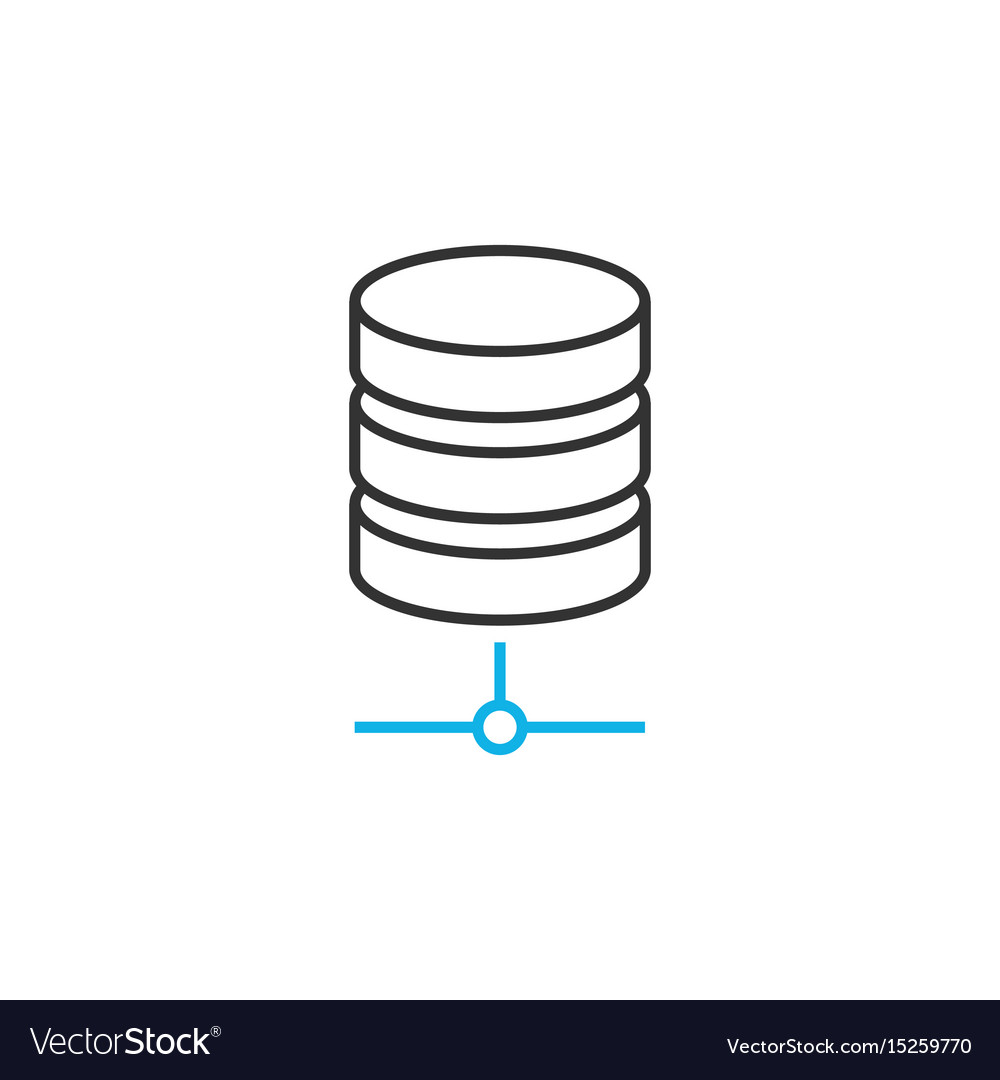 Database line icon vector image