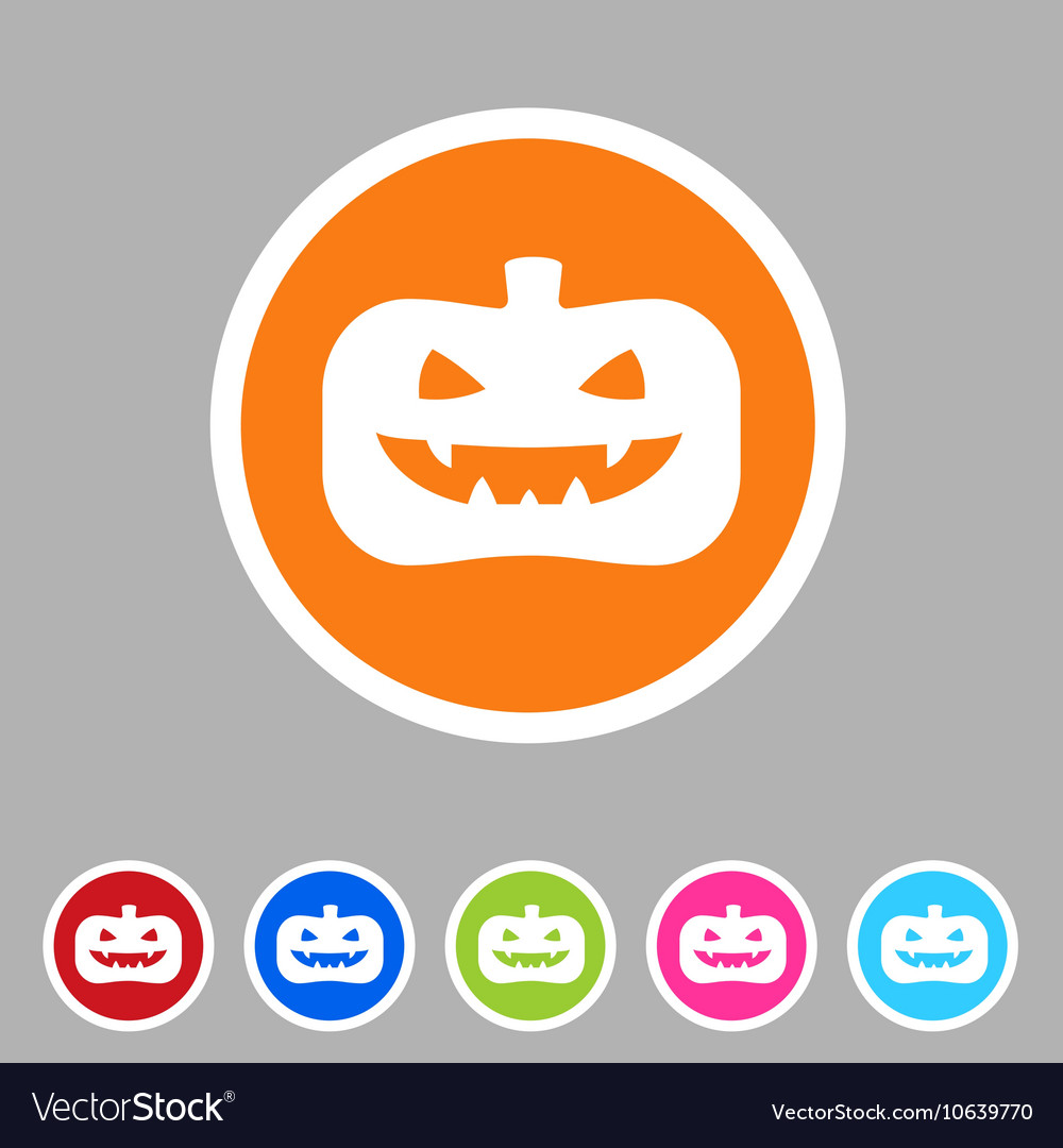 Halloween pumpkin icon flat web sign symbol logo