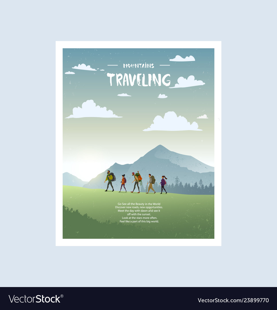 Traveling poster