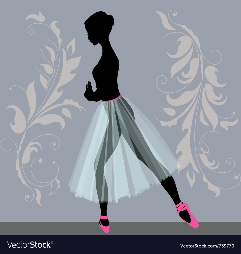 Young ballerina vector image