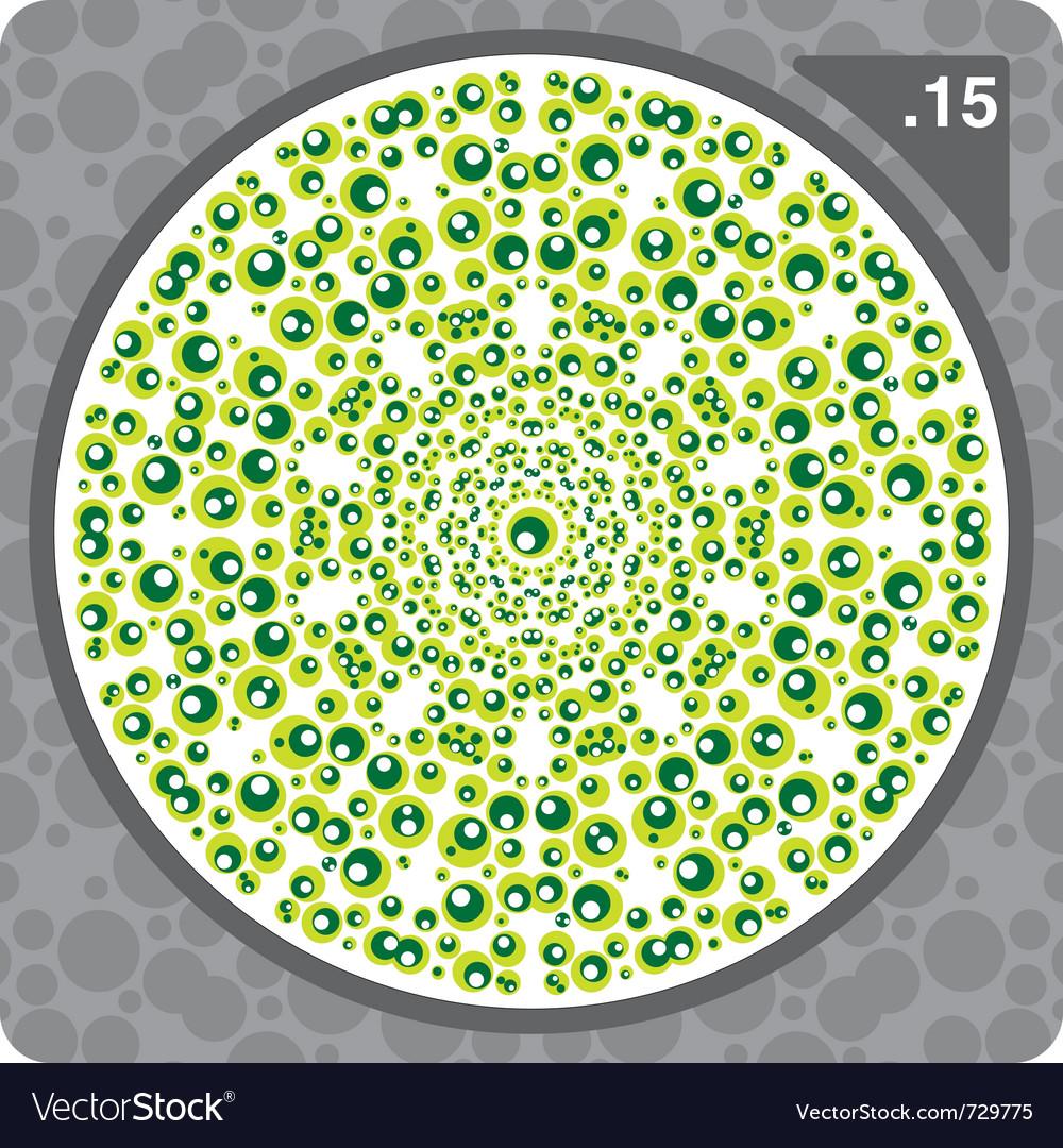 Abstract circles decorative ornament vector image