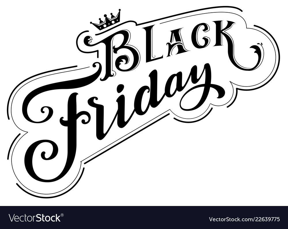 Black friday royal sale ornate lettering retro