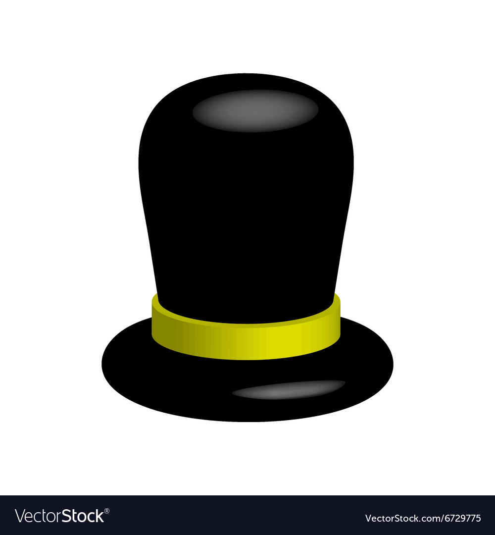 Black hat on a white background